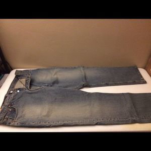 Levis 501 button fly 3 button blue jean loose NEW